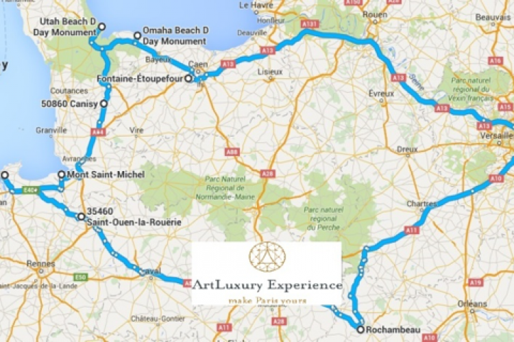 historical tour exclusive journey normandy caslte us tour map circuit