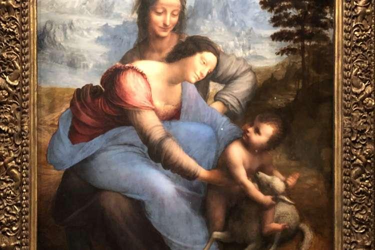 La Vierge et l'enfant, avec Sainte Anne