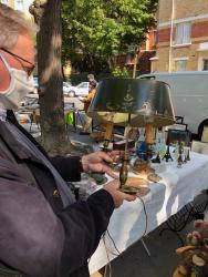Olivier et lampe bouillote