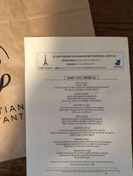 Menu Christian Constant - gastronomy