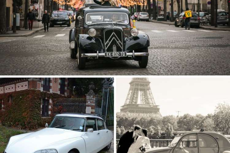 Our selection of vintage cars for an amazing City Tour of Paris