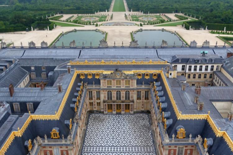 View of the Chateau de Versailles