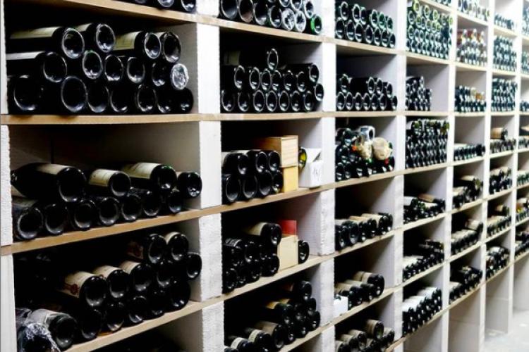 Cave à vins de collectionneur. Wine cellar